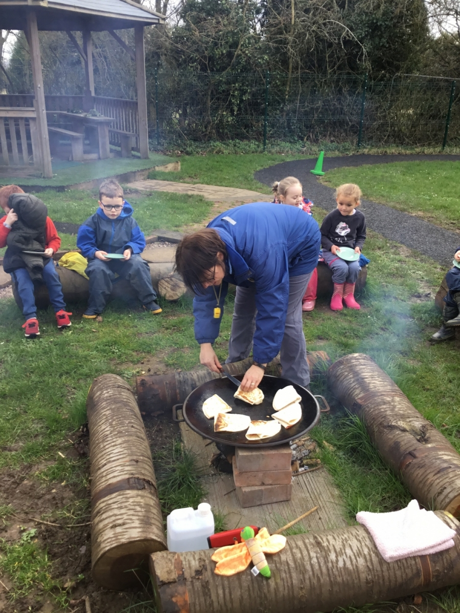 Forest school pizzas